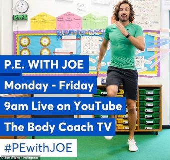 Joe Wicks PE teacher
