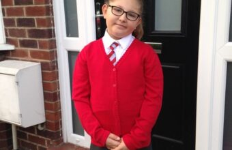 Ruth Grace in her school uniform before her diagnosis.