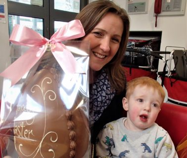 Easter egg fundraising for childhood cancer research