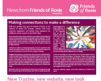 2019 Friends of Rosie newsletter is out now